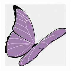 Purple Awareness Butterfly 2 Glasses Cloth (medium, Two Sided) by FunWithFibro