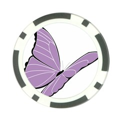 Purple Awareness Butterfly 2 Poker Chip by FunWithFibro