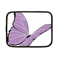 Purple Awareness Butterfly 2 Netbook Sleeve (small) by FunWithFibro