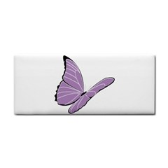 Purple Awareness Butterfly 2 Hand Towel by FunWithFibro