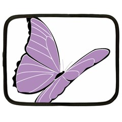 Purple Awareness Butterfly 2 Netbook Sleeve (xl) by FunWithFibro
