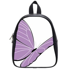 Purple Awareness Butterfly 2 School Bag (small)