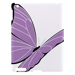 Purple Awareness Butterfly 2 Apple Ipad 3/4 Hardshell Case by FunWithFibro