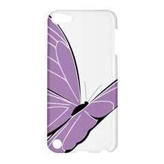 Purple Awareness Butterfly 2 Apple Ipod Touch 5 Hardshell Case by FunWithFibro