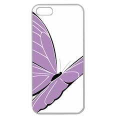 Purple Awareness Butterfly 2 Apple Seamless Iphone 5 Case (clear) by FunWithFibro