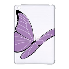 Purple Awareness Butterfly 2 Apple Ipad Mini Hardshell Case (compatible With Smart Cover) by FunWithFibro