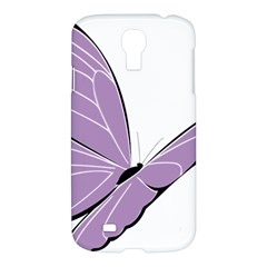 Purple Awareness Butterfly 2 Samsung Galaxy S4 I9500/i9505 Hardshell Case by FunWithFibro
