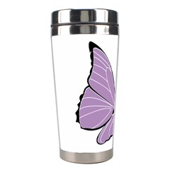 Purple Awareness Butterfly 2 Stainless Steel Travel Tumbler by FunWithFibro