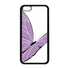 Purple Awareness Butterfly 2 Apple Iphone 5c Seamless Case (black) by FunWithFibro
