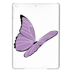 Purple Awareness Butterfly 2 Apple Ipad Air Hardshell Case