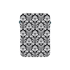 White On Black Damask Apple Ipad Mini Protective Sleeve by Zandiepants