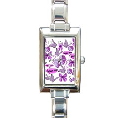 Invisible Illness Collage Rectangular Italian Charm Watch by FunWithFibro