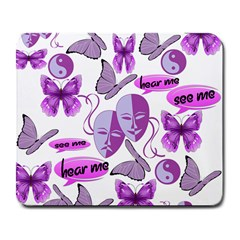 Invisible Illness Collage Large Mouse Pad (rectangle) by FunWithFibro