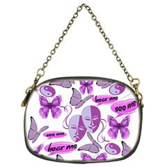 Invisible Illness Collage Chain Purse (one Side) by FunWithFibro