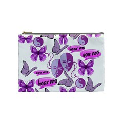 Invisible Illness Collage Cosmetic Bag (medium) by FunWithFibro