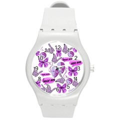 Invisible Illness Collage Plastic Sport Watch (medium) by FunWithFibro