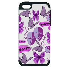 Invisible Illness Collage Apple Iphone 5 Hardshell Case (pc+silicone) by FunWithFibro