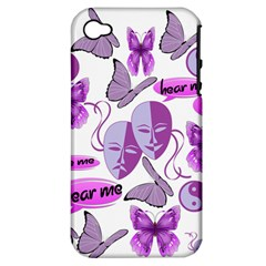 Invisible Illness Collage Apple Iphone 4/4s Hardshell Case (pc+silicone) by FunWithFibro