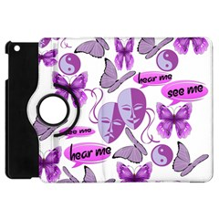 Invisible Illness Collage Apple Ipad Mini Flip 360 Case by FunWithFibro