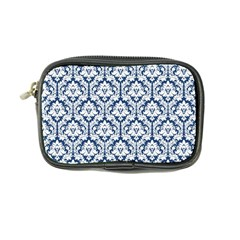 Navy Blue Damask Pattern Coin Purse