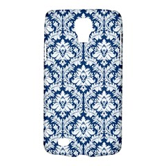 White On Blue Damask Samsung Galaxy S4 Active (i9295) Hardshell Case by Zandiepants
