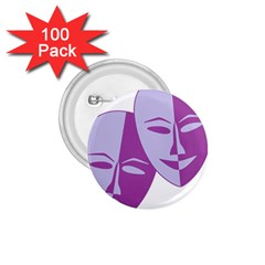 Comedy & Tragedy Of Chronic Pain 1 75  Button (100 Pack) by FunWithFibro
