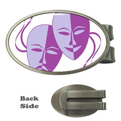 Comedy & Tragedy Of Chronic Pain Money Clip (oval) by FunWithFibro