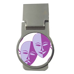 Comedy & Tragedy Of Chronic Pain Money Clip (round) by FunWithFibro