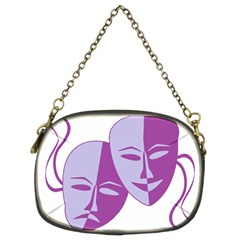 Comedy & Tragedy Of Chronic Pain Chain Purse (two Sided)  by FunWithFibro