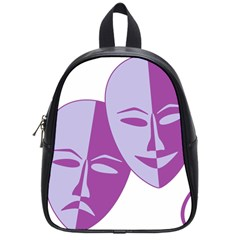 Comedy & Tragedy Of Chronic Pain School Bag (small) by FunWithFibro