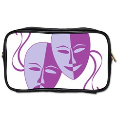 Comedy & Tragedy Of Chronic Pain Travel Toiletry Bag (one Side) by FunWithFibro