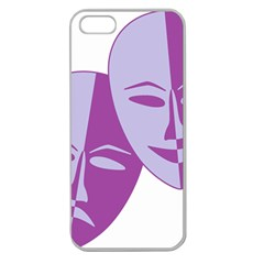 Comedy & Tragedy Of Chronic Pain Apple Seamless Iphone 5 Case (clear) by FunWithFibro