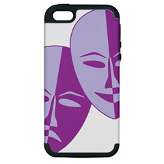 Comedy & Tragedy Of Chronic Pain Apple Iphone 5 Hardshell Case (pc+silicone) by FunWithFibro