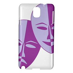 Comedy & Tragedy Of Chronic Pain Samsung Galaxy Note 3 N9005 Hardshell Case by FunWithFibro