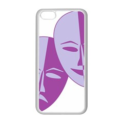 Comedy & Tragedy Of Chronic Pain Apple Iphone 5c Seamless Case (white) by FunWithFibro