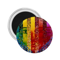 Conundrum I, Abstract Rainbow Woman Goddess  2 25  Button Magnet by DianeClancy