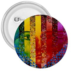 Conundrum I, Abstract Rainbow Woman Goddess  3  Button by DianeClancy