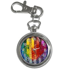 Conundrum I, Abstract Rainbow Woman Goddess  Key Chain Watch