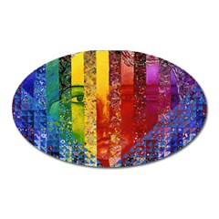 Conundrum I, Abstract Rainbow Woman Goddess  Magnet (oval) by DianeClancy