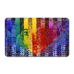 Conundrum I, Abstract Rainbow Woman Goddess  Magnet (rectangular) by DianeClancy