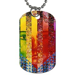 Conundrum I, Abstract Rainbow Woman Goddess  Dog Tag (two Sided)  by DianeClancy
