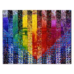 Conundrum I, Abstract Rainbow Woman Goddess  Jigsaw Puzzle (rectangle) by DianeClancy
