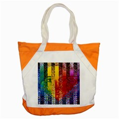 Conundrum I, Abstract Rainbow Woman Goddess  Accent Tote Bag by DianeClancy