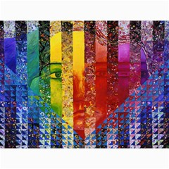 Conundrum I, Abstract Rainbow Woman Goddess  Canvas 18  X 24  (unframed) by DianeClancy