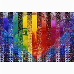 Conundrum I, Abstract Rainbow Woman Goddess  Canvas 24  X 36  (unframed) by DianeClancy