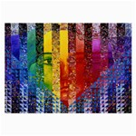 Conundrum I, Abstract Rainbow Woman Goddess  Glasses Cloth (Large) Front