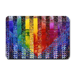 Conundrum I, Abstract Rainbow Woman Goddess  Small Door Mat by DianeClancy