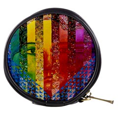 Conundrum I, Abstract Rainbow Woman Goddess  Mini Makeup Case by DianeClancy