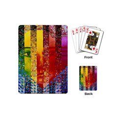Conundrum I, Abstract Rainbow Woman Goddess  Playing Cards (mini) by DianeClancy