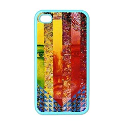 Conundrum I, Abstract Rainbow Woman Goddess  Apple Iphone 4 Case (color) by DianeClancy